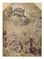 Saint Catherine of Alexandria at the Wheel Fine Art Print
