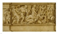 Design for a Frieze with Worshippers Bringing Sacrificial Offerings Fine Art Print