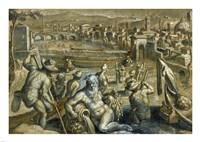 The Arno with Fishermen Fine Art Print