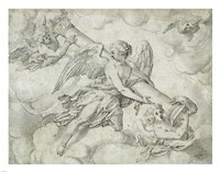 Angels Bearing the Column of the Passion Fine Art Print