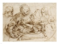Holy Family with an Angel by Guido Reni - various sizes
