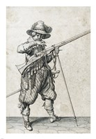 A Soldier on Guard Blowing Out a Match Fine Art Print