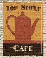 Top Shelf Cafe Framed Print