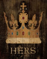 Her Majesty's Crown with word by Avery Tillmon - various sizes