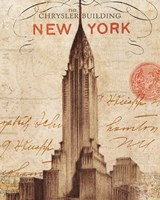 Letter from New York Framed Print