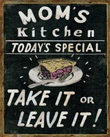 Mom's Kitchen Fine Art Print