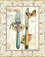 Rose Garden Utensils I Fine Art Print