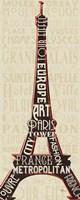 Paris City Words I Fine Art Print