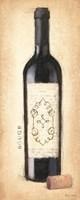 Vintage Rouge Bottle Framed Print