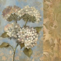 Hydrangea on Soft Blue by Silvia Vassileva - various sizes, FulcrumGallery.com brand