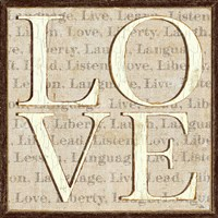 L is for Love Fine Art Print