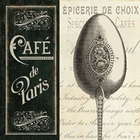 French Menu I Fine Art Print