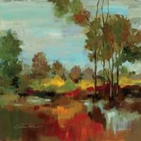 Hidden Pond Hues II Fine Art Print