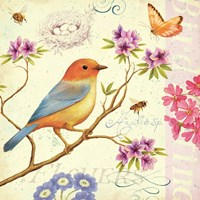 Birds and Bees II by Daphne Brissonnet - various sizes - $26.49