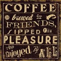 Coffee Quote II by Pela Studio - various sizes - $26.49