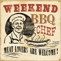 Weekend BBQ Chef Fine Art Print