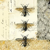Golden Bees n Butterflies No. 1 Fine Art Print