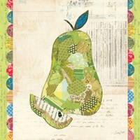 Fruit Collage III - Pear - by Courtney Prahl - various sizes