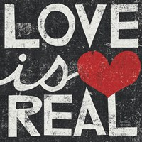 Love Is Real Grunge Square by Michael Mullan - various sizes