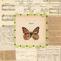 Hope Butterfly by Courtney Prahl - various sizes, FulcrumGallery.com brand