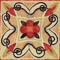 Bohemian Rooster Tile Square I by Daphne Brissonnet - various sizes