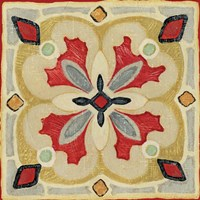 Bohemian Rooster Tile Square III by Daphne Brissonnet - various sizes