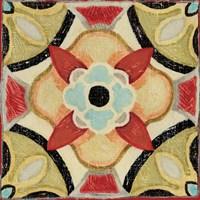 Bohemian Rooster Tile Square IV Fine Art Print