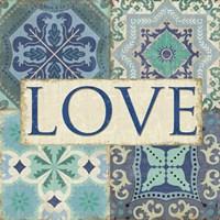 Santorini I - Love Fine Art Print