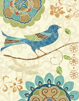 Eastern Tales Birds I by Daphne Brissonnet - various sizes