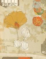 Collaged Botanicals II Fine Art Print