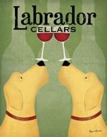 Two Labrador Wine Dogs Fine Art Print