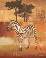 """6"""" x 8"""" Zebra Art"""