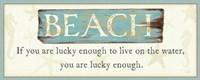 """30"""" x 12"""" Beach"""