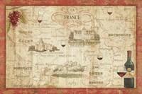 Wine Map Fine Art Print