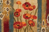 Ikat Floral Tapestry by Silvia Vassileva - various sizes