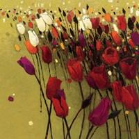 Tulip Drift Green Fine Art Print