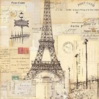 Paris Collage II Fine Art Print