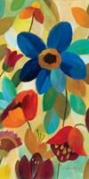 Summer Floral Panel I Framed Print