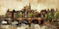 Paris Bridge II Spice Fine Art Print