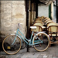 Cafe Bicycle Fine Art Print