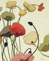 Pavots Ondule II by Shirley Novak - various sizes