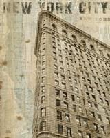 Vintage NY Flat Iron Framed Print