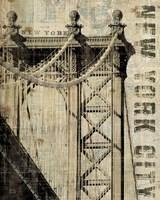 Vintage NY Manhattan Bridge by Michael Mullan - various sizes