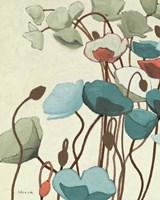 Blue Pavots Ondule I Fine Art Print