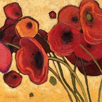Poppies Wildly I by Shirley Novak - various sizes