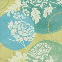 Floral Decal Turquoise I by Veronique Charron - various sizes
