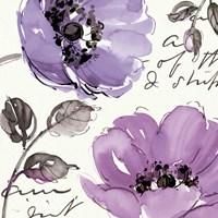 Floral Waltz Plum II Fine Art Print
