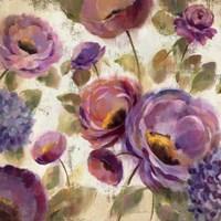 Blue and Purple Flower Song II Fine Art Print