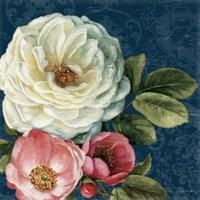 Floral Damask II on Indigo by Lisa Audit - various sizes