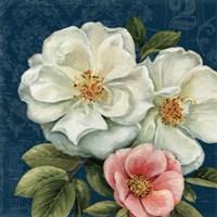 Floral Damask III on Indigo by Lisa Audit - various sizes